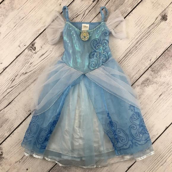Disney Store Cinderella Costume Girls 5/6 Tulle